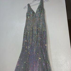 Lara Gray and Iridescent Prom Dress